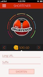 The URL Shortener - screenshot