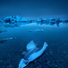 Floating Sculptures by José Ramos - Landscapes Waterscapes ( glacier, jokulsarlon, iceland, lagoon, ice, long exposure, nd filter )