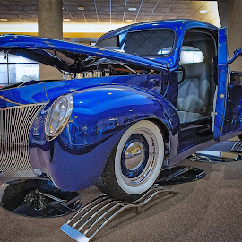 Blacktop Nationals - Blue Truck by Ron Meyers - Transportation Automobiles ( 2014 blacktop nationals )