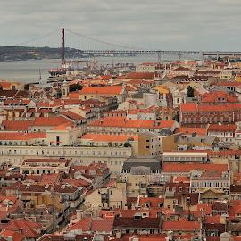 Lisboa by Selin Barbulescu - City,  Street & Park  Skylines ( point view, lisbon, landscape )