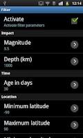 Screenshot of EQInfo - Global Earthquakes