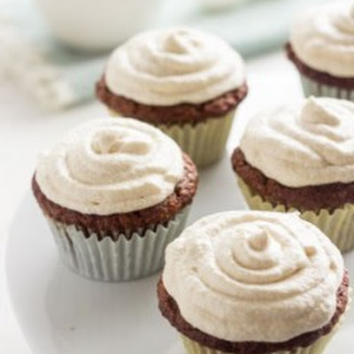 Small Batch Carrot Cake Cupcakes {GF + Lower Fat}