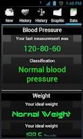 Screenshot of Blood Pressure lite