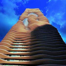 Aqua Building by Tricia Scott - Buildings & Architecture Office Buildings & Hotels ( skyline, building, illinois, sky, architecture, chicago, aqua, city )
