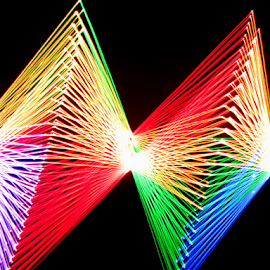 Diamonds are forever ! by Jim Barton - Abstract Patterns ( laser light, colorful, light design, diamonds, diamonds are forever, laser design, laser, laser light show, light, science )