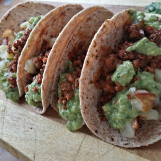 Beyond Beef Chorizo Potato Tacos