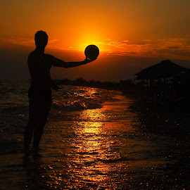 by Maja  Marjanovic - Sports & Fitness Other Sports ( ball, sunset, sea, beach, people, sun,  )