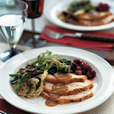 Herb-Brined Turkey with Pear Gravy