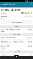 Screenshot of AFB Mobile Banking