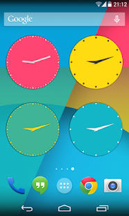 Wow KitKat Clock Widgets - screenshot