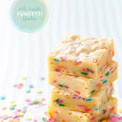 White Chocolate Funfetti Blondies