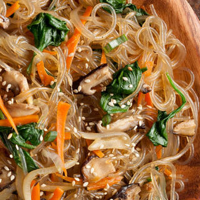 Japchae (Korean Stir-Fried Sweet Potato Noodles)