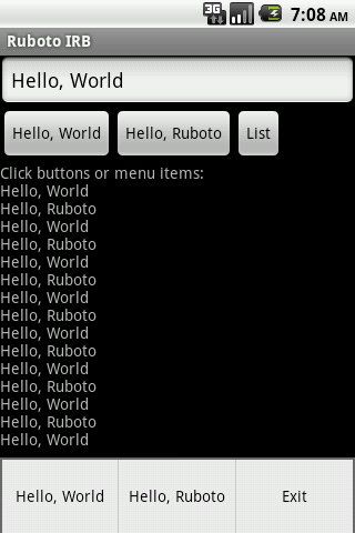 Ruboto IRB Ruby on Android