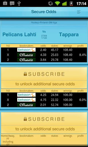 Secure Odds - n1 Arbitrage App