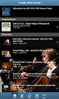 Screenshot of Chamber Music Society