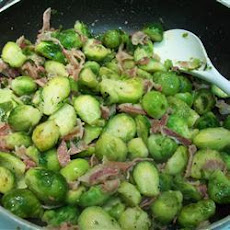 Pancetta and Garlic Brussels Sprouts