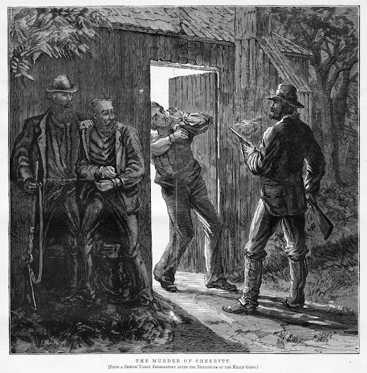 The murder of Aaron Sherritt depicted in The Illustrated Australian News.