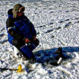 ice fishing by Jon Radtke - Sports & Fitness Other Sports ( ice fishing )