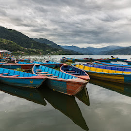 Phewa Lake by Tomasz Woźniak - Transportation Boats ( raagoon, tomasz woźniak, pokhara, nepal )