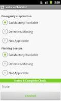 Screenshot of VeriLocation Van Checklist