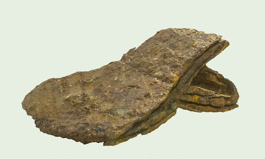 Discovered in Battle, East Sussex, on the site of the Battle of Hastings, this axe is thought to be the only survival of the weaponry used by King Harold's army that day.