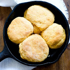 Sweet potato biscuits with chorizo cream gravy