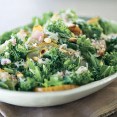 Winter Greens with Roasted Pears and Pecorino