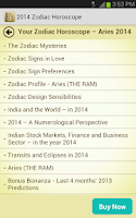 Screenshot of 2014 Zodiac Horoscope
