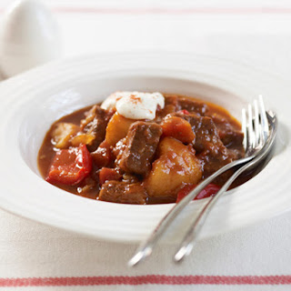 Beef Goulash with Tomatoes and Bell Peppers