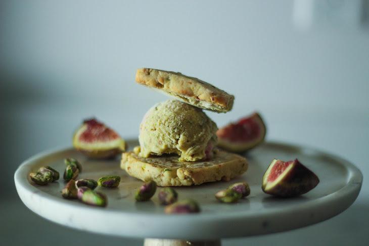 ... Ice Cream with Pistachio + White Chocolate Shortbread] Recipe | Yummly