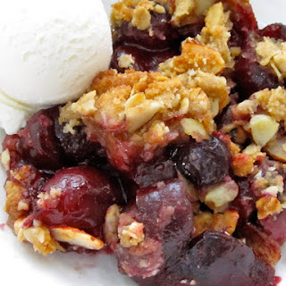 Bing Cherry, Blueberry & Almond Crumble