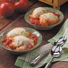 Stewed Tomatoes with Dumplings