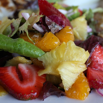Red Wine and Honey Salad with Fruit