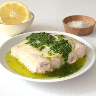 Baked Fish with Lemon Herb Sauce