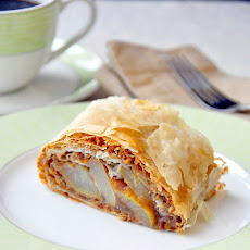 Pear Almond Baklava Roll