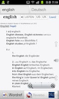 Screenshot of Englisch Wörterbücher