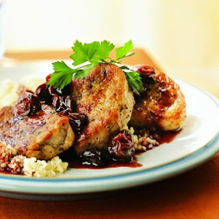 Cooking Light's Pork Medallions with Port Wine-Dried Cherry Pan Sauce