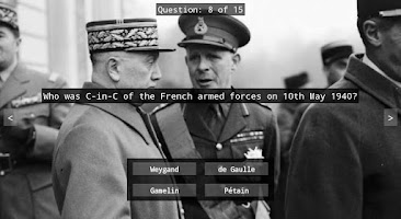 Screenshot of WWII Quiz