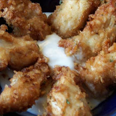 Caesar Crusted Crispy Chicken Strips