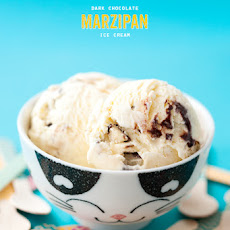 Dark Chocolate and Marzipan Ice Cream