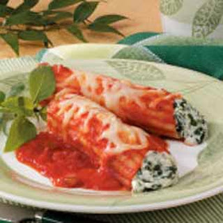 Cheese Manicotti Taste Of Home Recipes