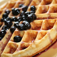 Lemon Belgian Waffles With Berry Syrup