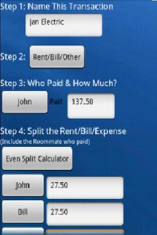 Roommate Expense Tracker