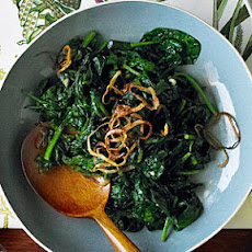 Spinach with Fried Shallots