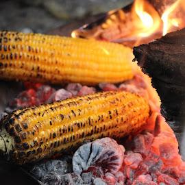 Garama Garam.. Too hot... by Supriya Bote - Food & Drink Cooking & Baking ( canon, red, food, street, random, click, hot, cooking, eat, corn, street photography )