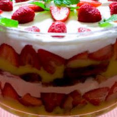 Layered Angel Food and Strawberry Dessert