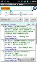Screenshot of Constitution of India