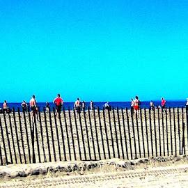 Beach Games, Santa Monica, CA by Ronnie Caplan - Sports & Fitness Soccer/Association football ( humanity, games, sand, society, santa monica, ocean, beach, crowd, people )
