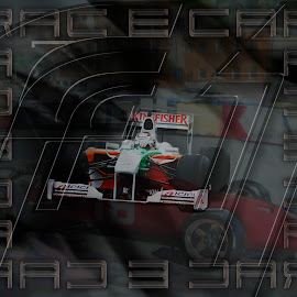 racecar by Dietmar Kuhn - Typography Captioned Photos ( text, speed, automobile, moody, racecar )