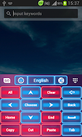 Screenshot of Pink Neon Keyboard GO